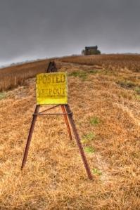 No Trespassing? Ha.